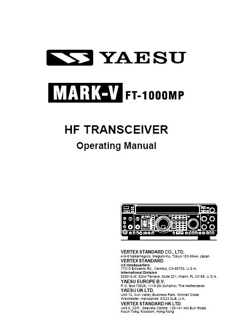 yaesu ft 1000mp mark v manual