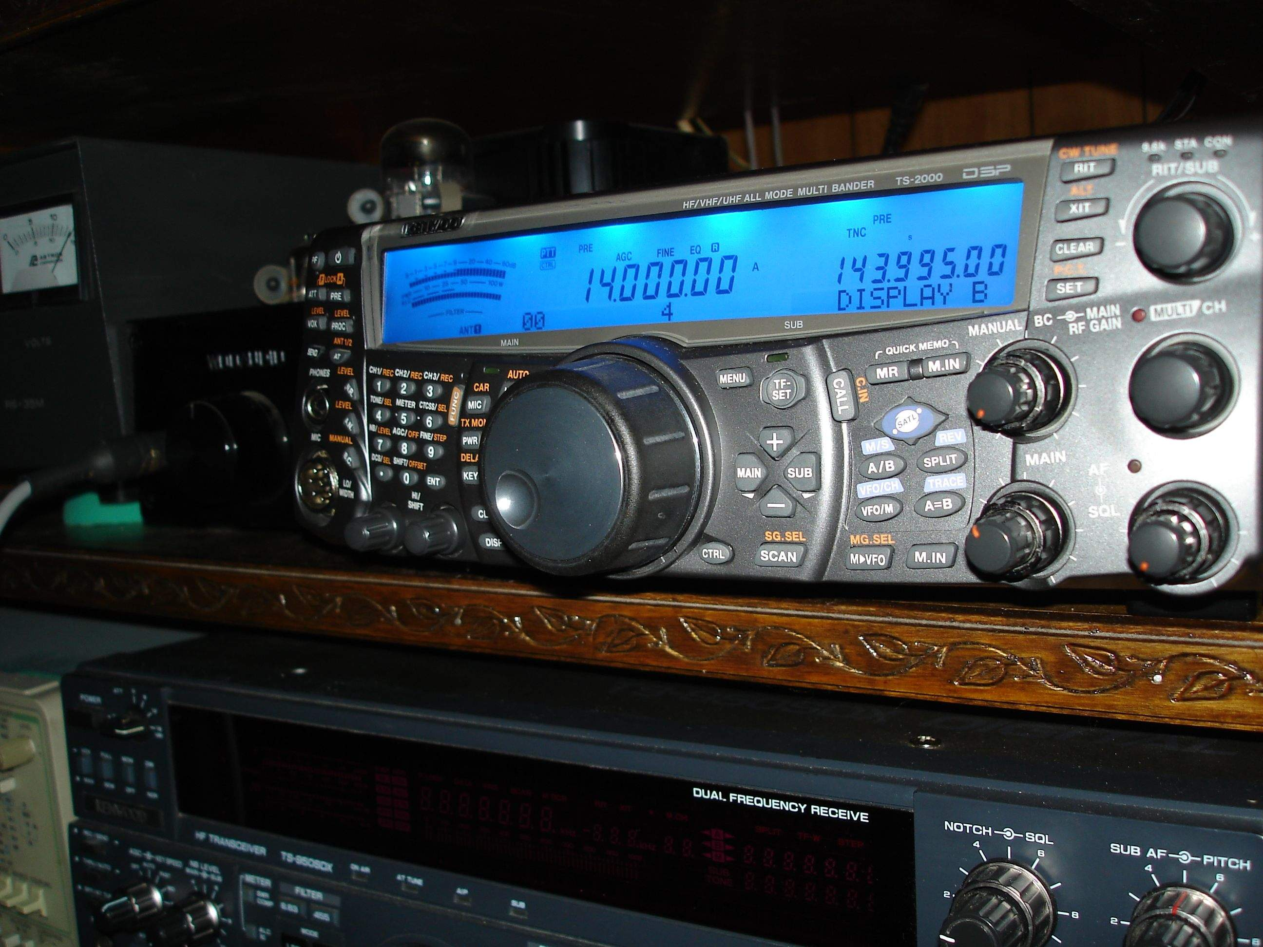 Click here to see the Tuna being built! Here's our Kenwood TS-2000.